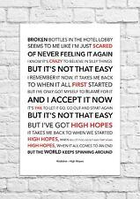 Kodaline - High Hopes - Song Lyric Art Poster - A4 Size