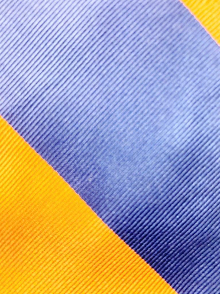 Rooster Orange Dunkelblau Seide Krawatte Streifen Krawatte MAP1521A #R05