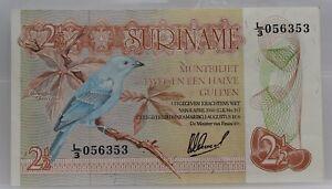 Suriname-muntbiljet-2-1-2-gulden-8-april-1960