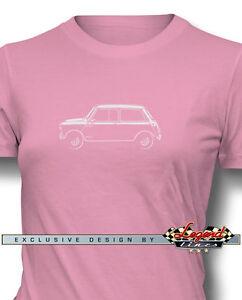 Austin Mini Cooper T-Shirt per Donne - in Vari Colori e Taglie - British Auto