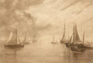 Attrib. George Sheffield (1839-1892) - Mid 19th Century Watercolour, Seascape
