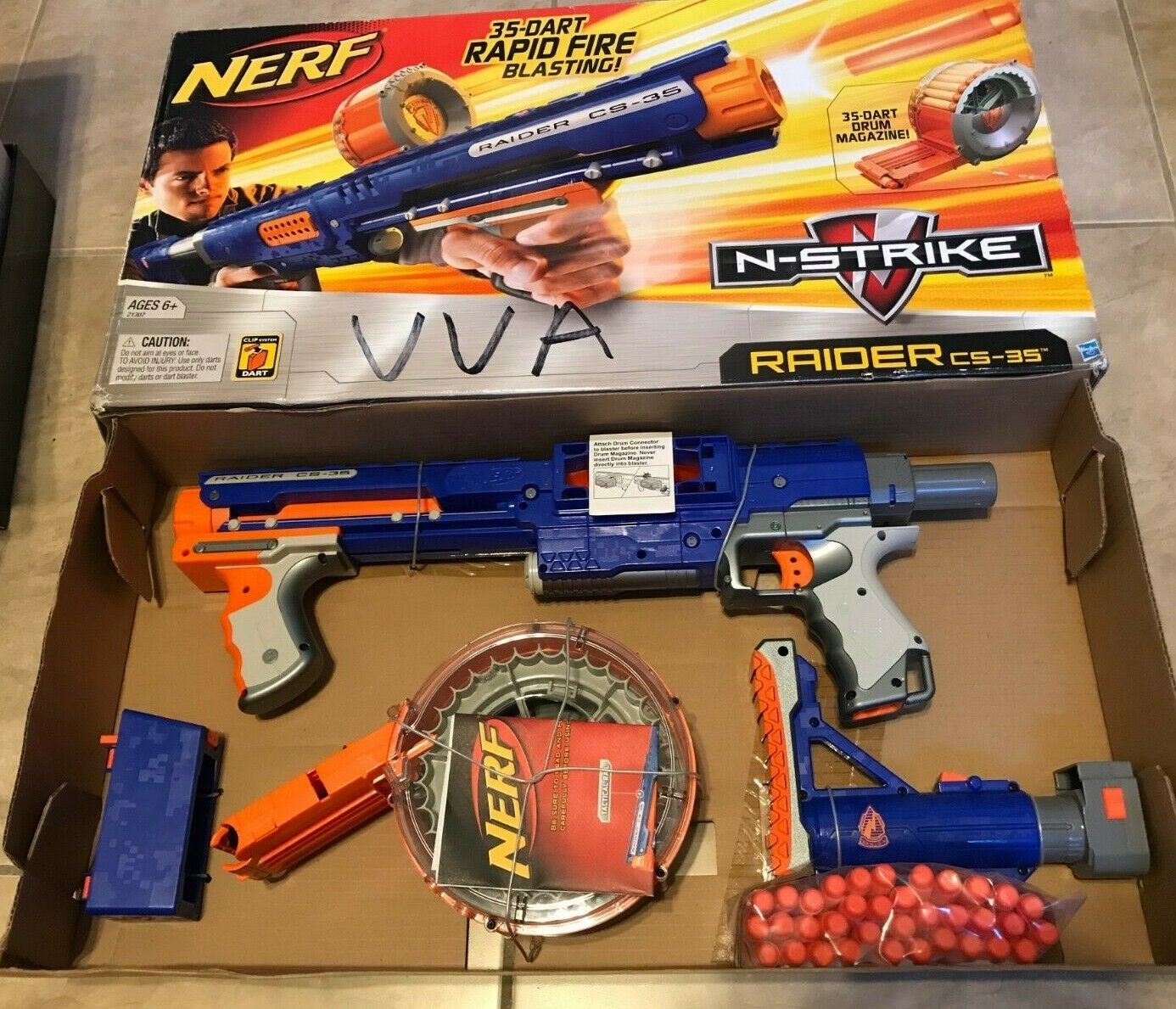 Nerf Nerf Nerf N-Strike CS-35 Raider Blaster Rapid Fire Gun NEW Open Box b4610a