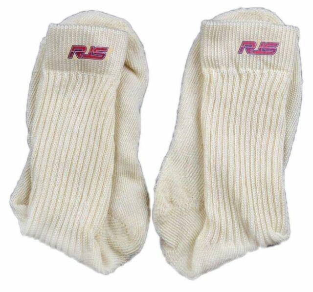 White Fire Retardant Socks Size Medium