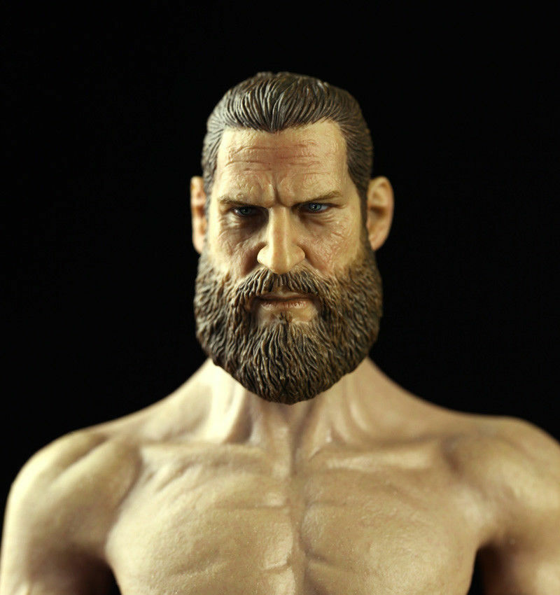 1 6 Scale US Navy SEAL Male Head Sculpt Model Beared For 12  HT COO PH Figure