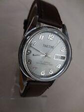 ANCIENNE TIMETON  MECANIQUE DAME ,GUICHET DATEUR,17 RUBIS (à rèviser) de 1980
