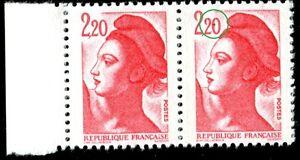 TIMBRE-VARIETES-LIBERTE-2-20-ROUGE-N-Yvert-2376-L45Q