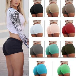842c74387202d Womens Gym Yoga Shorts Butt Lift Sports Fitness Stretch Hot Pants ...