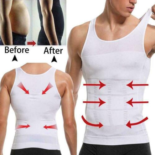 Men/'s Body Slimming Waist Belly Shirt Super Durable Compression Sculpting T4L3