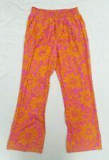 Lilka Anthropologie Pink Orange Flowered Boho Wide Leg Lounge Pants Large
