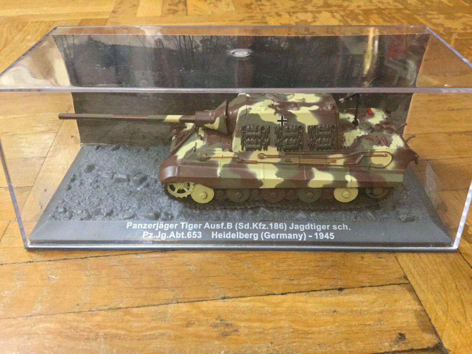 Panzer Panzer Panzer JagdTiger Wehrmacht tank WWII NEW diecast Altaya 1 72  muy popular
