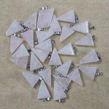 Natural rose quartz stone triangle shape charms pendants 50pcs/lot Wholesale