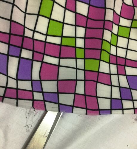 NEW*L//Weight Smooth Poly Microfiber Geometric Print Dress//Craft Fabric *FREE P/&P