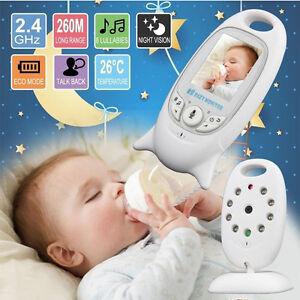Baby Monitor inalámbrico LCD 2 Canales Cámara Video para bebé Blanco