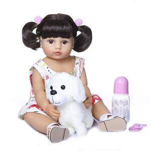 "22"" Handmade Soft Flexible Full Body Silicone Doll Reborn Baby Toddler Girl Doll"