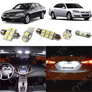 12x White Led Lights Interior Package Kit For 2006 2013 Chevy Impala Ci3w Ebay