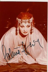 Vintage Autographié Photo Pauline Tinsley Britannique Opéra Singer Soprano