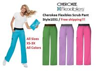 Cherokee Flexibles Scrub Pant 1031 Free Shipping / All Colors All Sizes