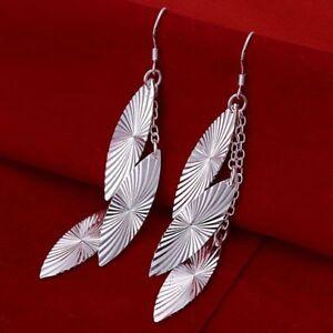 ASAMO-Damen-Ohrhaenger-Ovale-Ohrringe-925-Sterling-Silber-plattiert-Schmuck-O1226