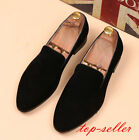 Men's Casual Pointed Toe Suede Driving Comfy Party Loafers Slip On Fashion Shoes