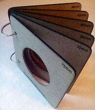 6 Moldes de DM para termoformar cabezas #Fofucha goma eva ,75~40 con Anillas