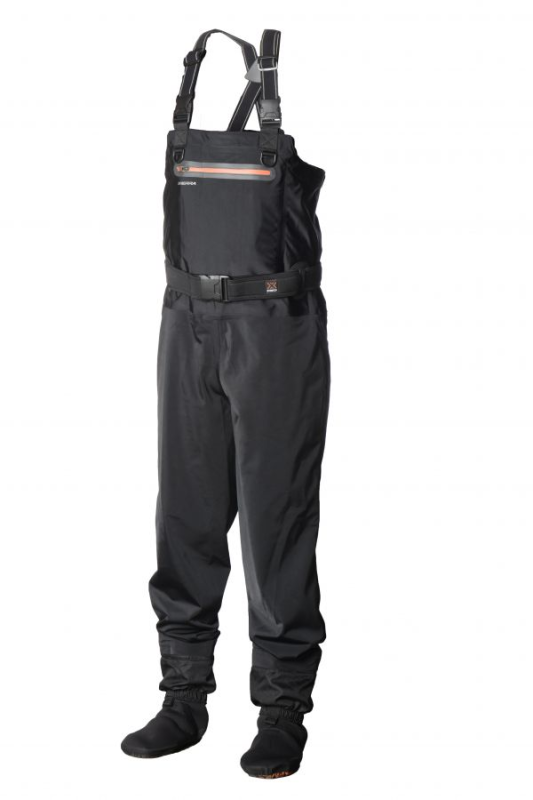 SCIERRA X-STRETCH STOCKING FOOT CHEST WADERS Größe L FLY FISHING PIKE SPEY SALMON