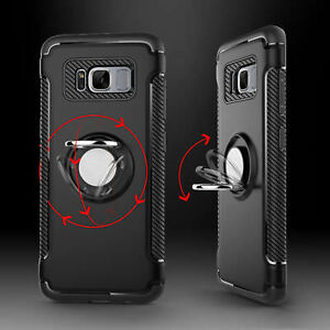 Samsung-Galaxy-Note-8-Note-9-S8-S9-Plus-Ring-Stand-Holder-Shockproof-Rugged-Case