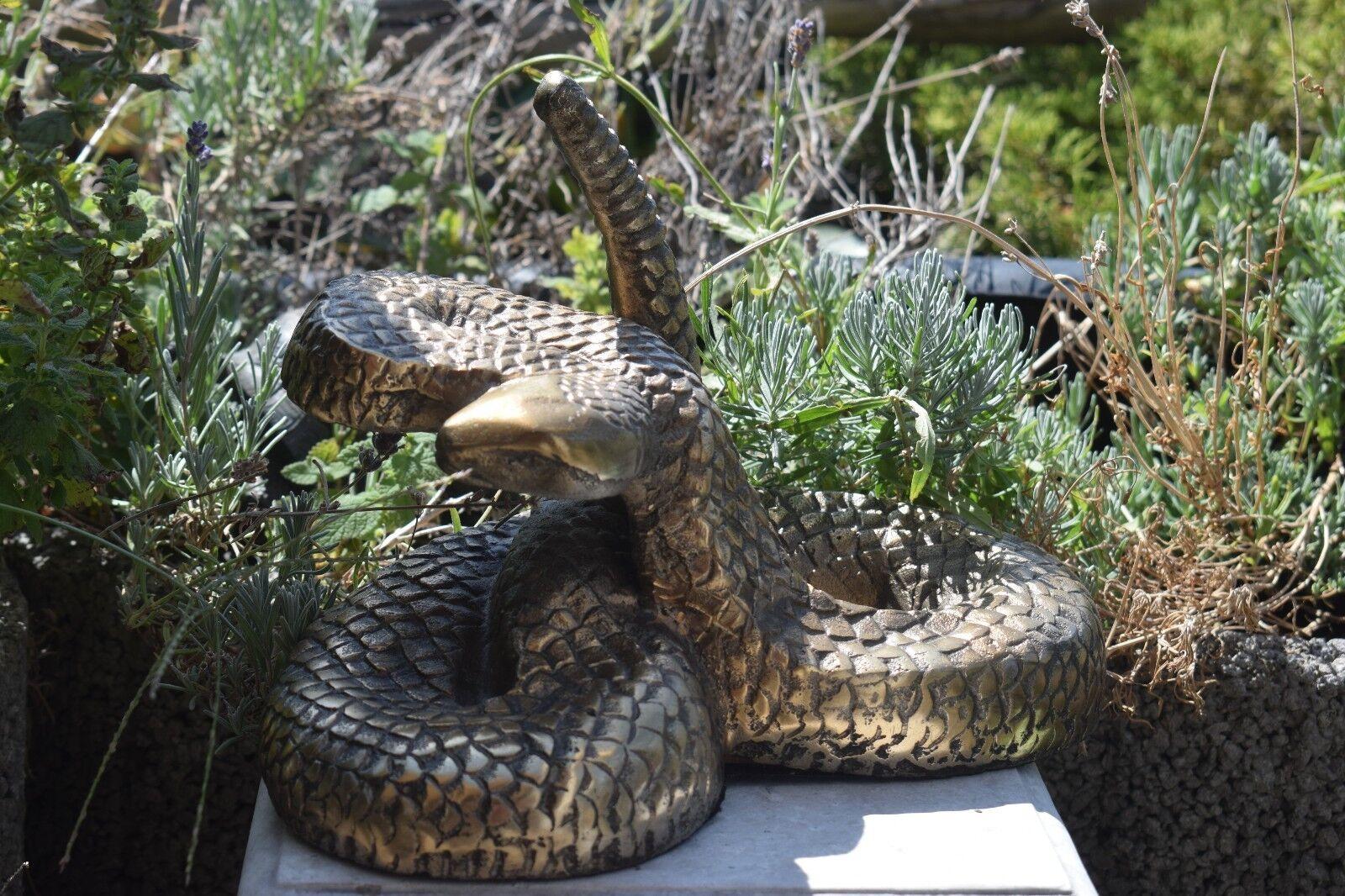 NEU schöne Kobra auf Lotos Schlange Snake Tier Holz Cobra 07