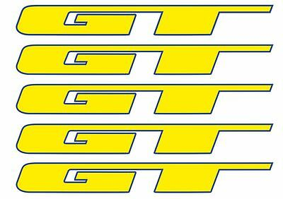 GT Bicycle Frame Stickers Vinyl Logo Decals Graphic Set Adhesive 5 Pcs Black
