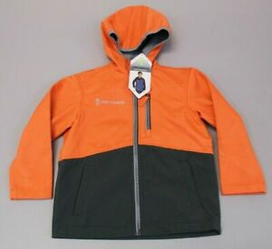 Free-Country-Boy-039-s-Soft-Shell-Zip-Up-Hooded-Jacket-SV3-Orange-Small-NWT