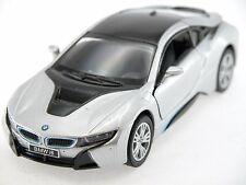 Kinsmart BMW I8 (Silver) Plug-in Hybrid Sports car 1:36 Collectable
