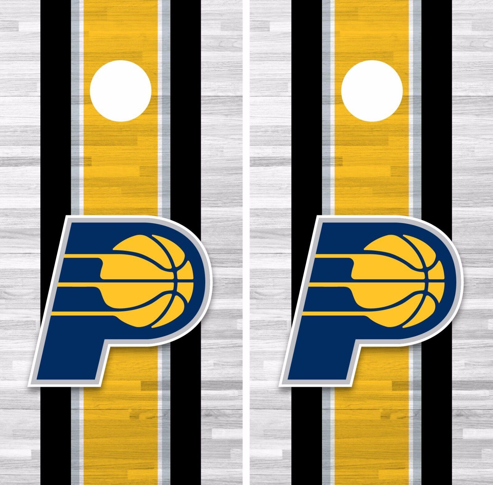 Indiana Pacers Cornhole Skin Wrap NBA Basketball Team colors Design Vinyl DR284