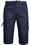 Mens 3//4 Long Shorts Elasticated Waist Cargo Combat Three Quarter Cotton Shorts