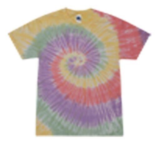 Zen Rainbow Multi-Color Tie Dye T-Shirts Kids XS S M L XL 100/% Cotton Colortone