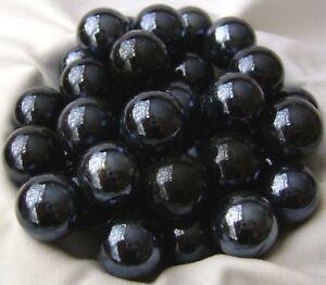 Nuevo 10 Black Beauty 14mm Canicas De Vidrio Juego Tradicional Ebay
