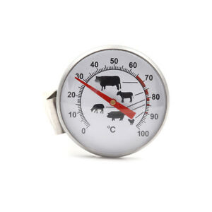 Stainless-Steel-Instant-Read-Probe-Thermometer-BBQ-Food-Cooking-Meat-GaugeFE