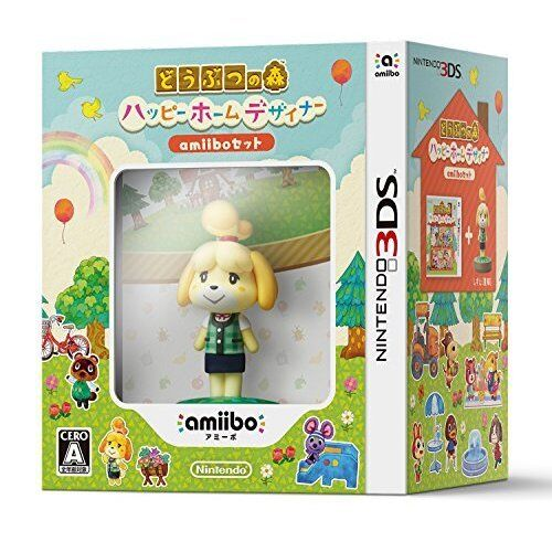 New 3DS Animal Crossing Happy Home Designer amiibo set Import Japan