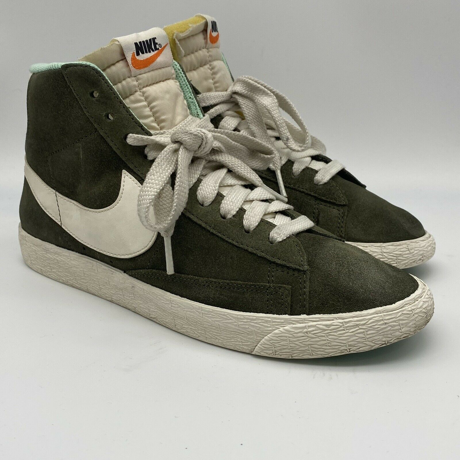 Size 9 - Nike Blazer Mid Suede Olive Green for sale online   eBay