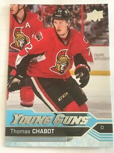 2016-17-Upper-Deck-Thomas-Chabot-488-Rookie-Card-Young-Guns-Series-2-UD-RC