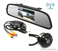 Wireless Rotatable Reverse Backup Parking Camera + 4.3 Inch LCD Mirror Display