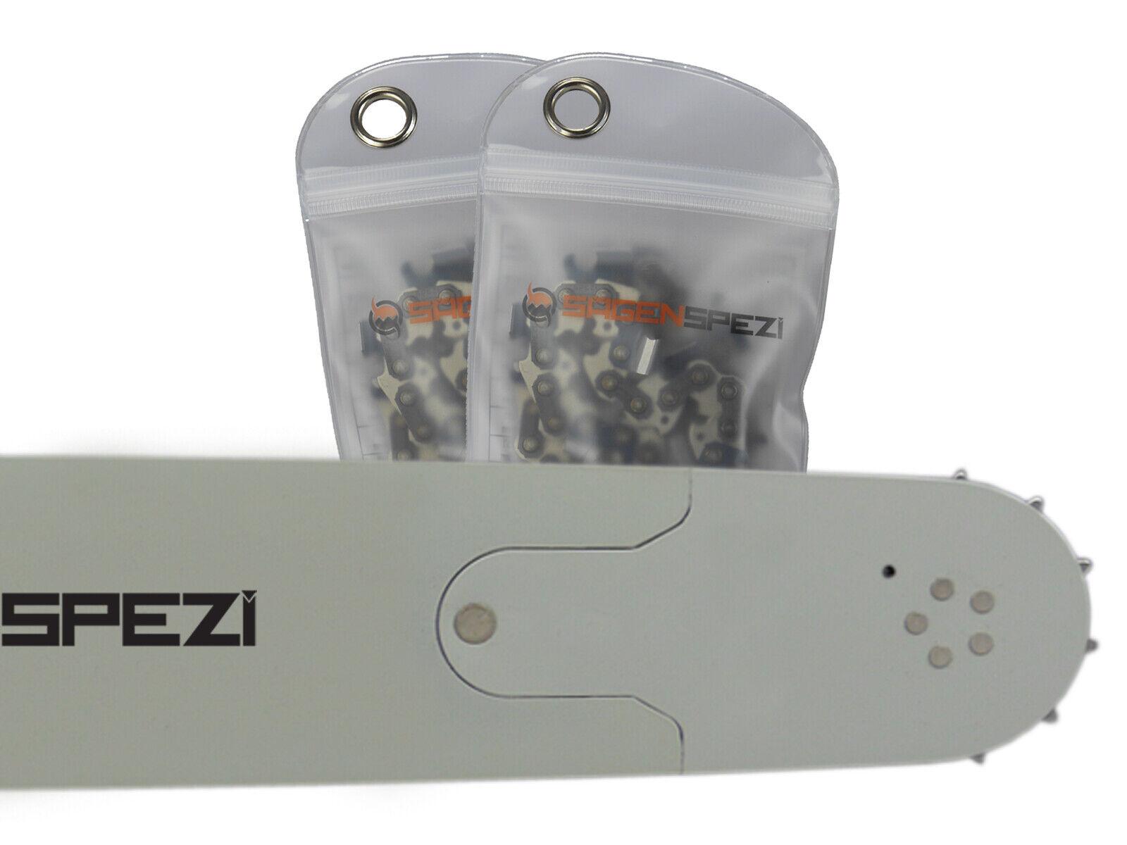 """Schwert 2 Ketten passend für Husqvarna 372 70 cm 3//8/"""" 93 TG 1,5 mm Sägekette"""