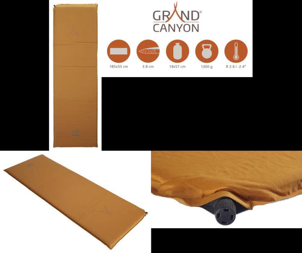 GRAND Canyon Cruise 7.5 - Auto-gonfiare Materassino isolante, 196 x 76 x 7.5 CM, Orano