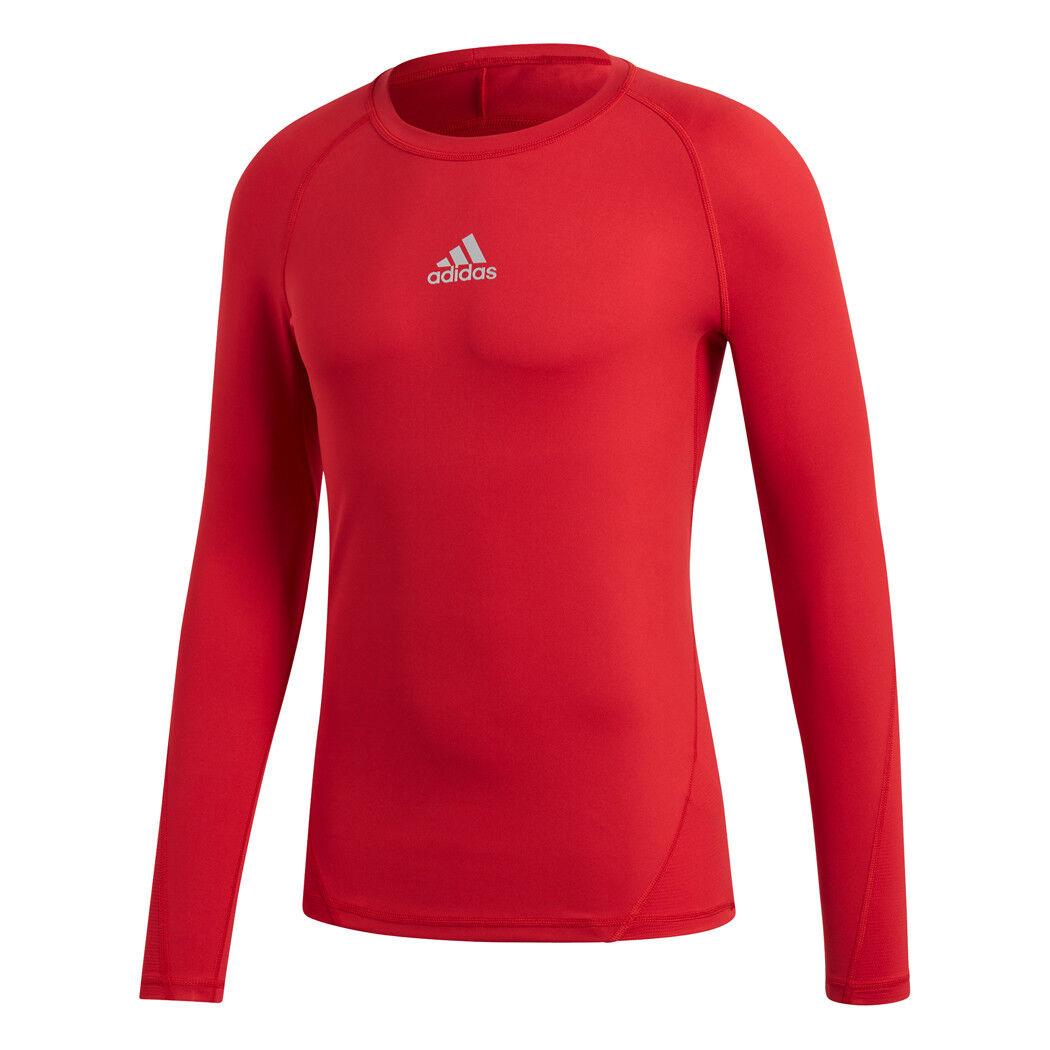 Adidas Alphaskin Sport Longssleeve Tee Unterziehshirt rot  | Stil