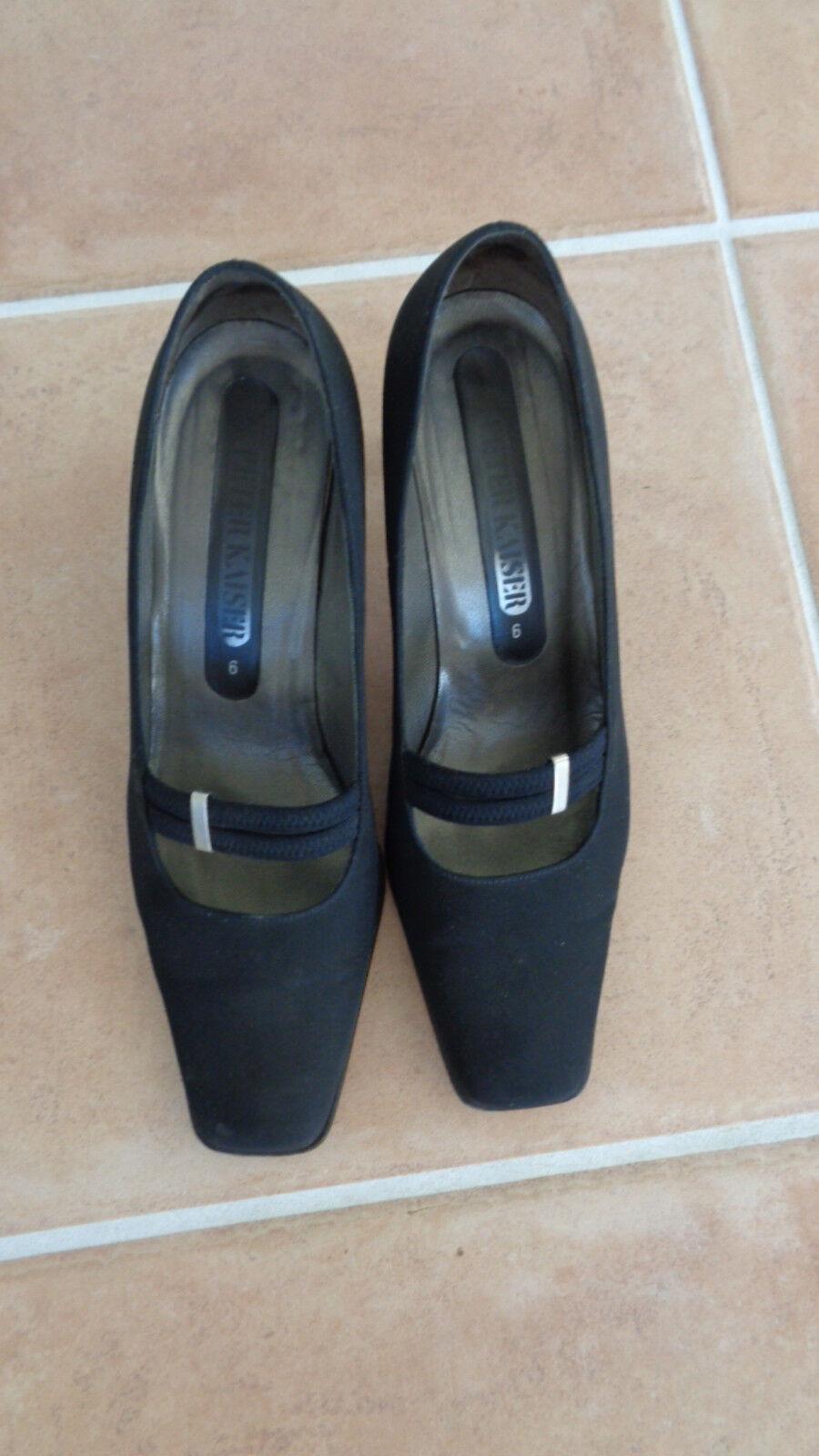 Peter Kaiser, Leder Pumps, schwarz, Gr. 6, 39,5 mit 7 cm Absatz, schwarze Schuhe
