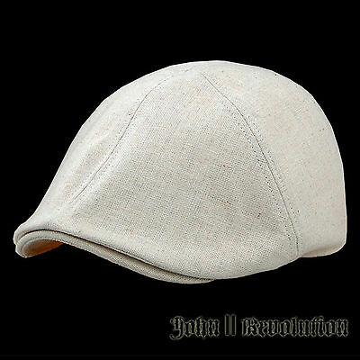 J2R Cotton Blended Linen Big Size Hunting Golf Drivig Riding Cap Beiges KOREA