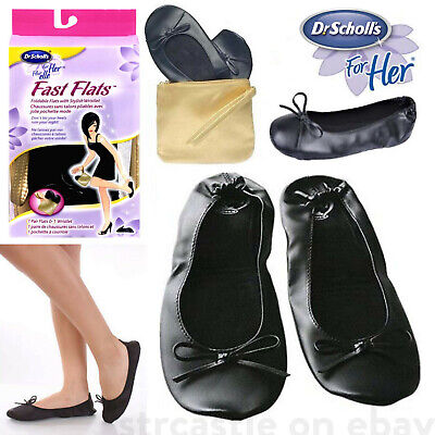 Blue Small Size Flat Pumps Women Foldable Ballet Shoes in Bag UK SIZE 5//6