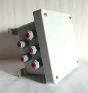 Ip66 elettronica vuoto Chassis Housing enclosure box Chassis Grigio WAGO Morsetti CASE