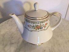 """Vintage Noritake Ivory China """"Homage"""" Pattern 7236 Teapot & Lid. Disc 1977-1985."""