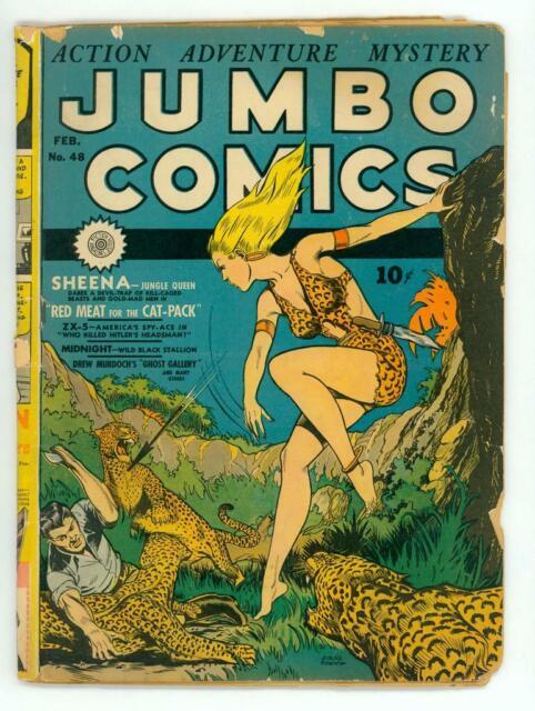 JUMBO COMICS #48 GD 2.0 GGA SHEENA COMIC 1943