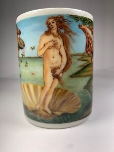 Vintage-Birth-Of-Venus-Botticelli-Ceramic-Pencil-and-Pen-Holder-Made-In-Taiwan
