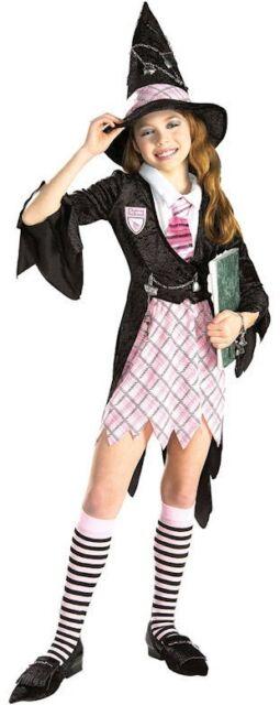 ragazze 6 pezzo pendente SCUOLA strega costume halloween vestito 3-10 anni